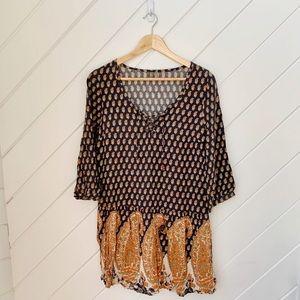 ELEMENT boho paisley dress size M